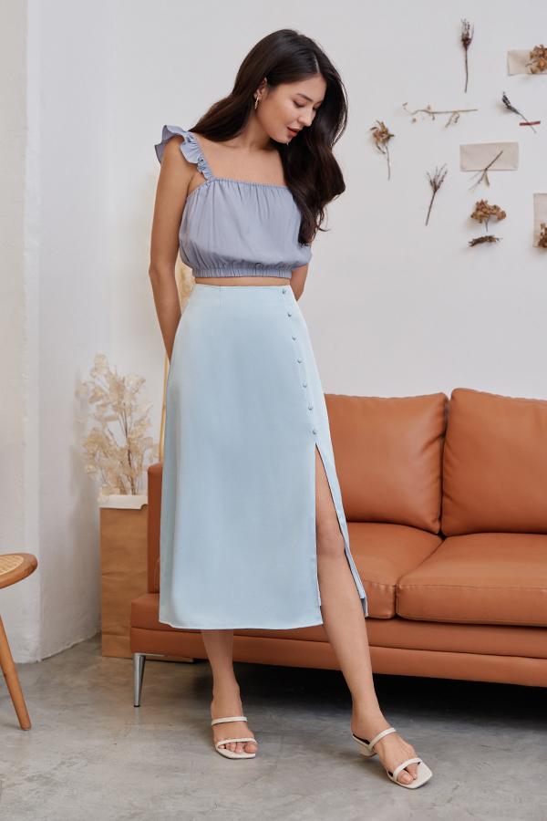 Alura Midi Skirt in Sky Blue