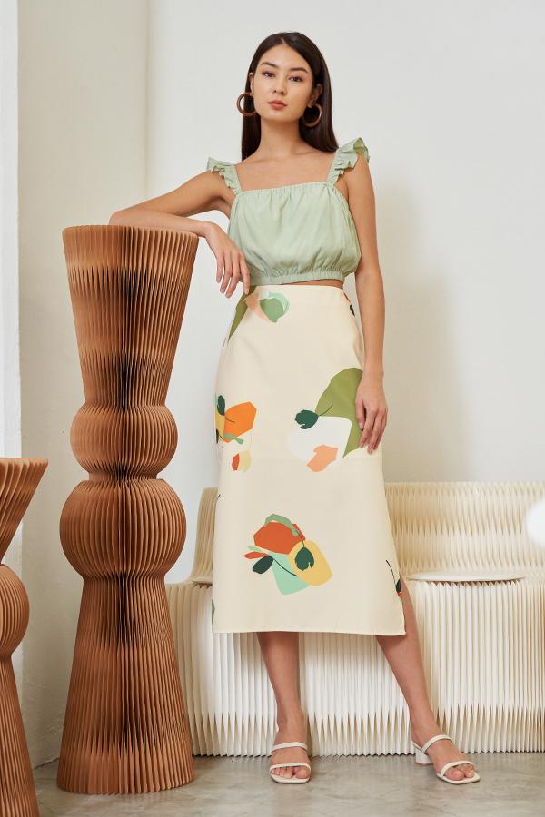 Kelisa Top in Apple Green