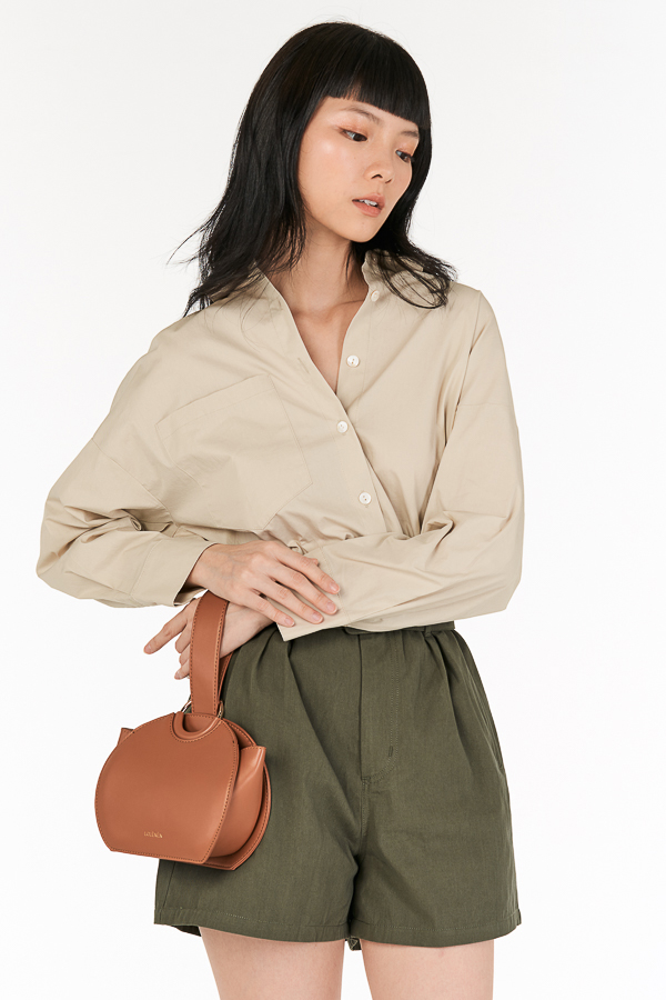 *Backorder* Cooper Oversized Shirt in Moonbeam