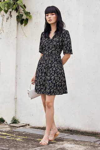 Fleura Dress in Black