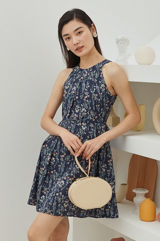 Delisa Dress in Navy