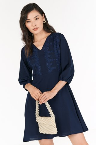 Koni Dress in Navy
