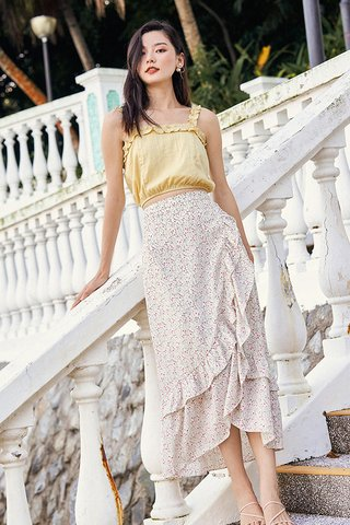 Rowella Midi Skirt in Ivory