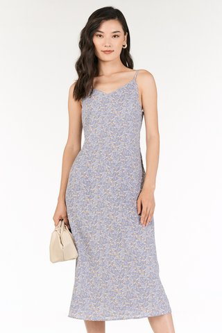Rowella Slip On Midi Dress in Lilac