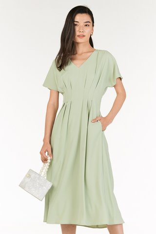Carinne Midi Dress in Spring Mint