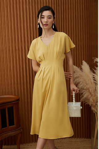 Carinne Midi Dress in Daffodil