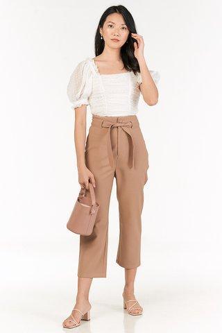 Kloss Belted Pants in Mocha