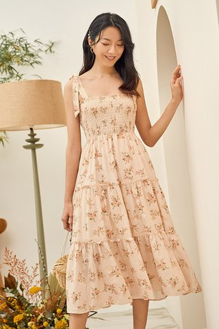 Clarisa Smocked Midi Dress