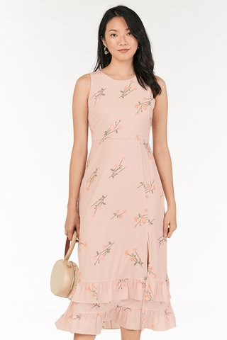 Ranosa Maxi Dress in Light Pink