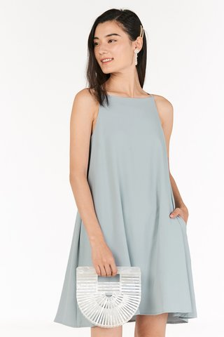 Calisa Swing Dress in Pastel Blue