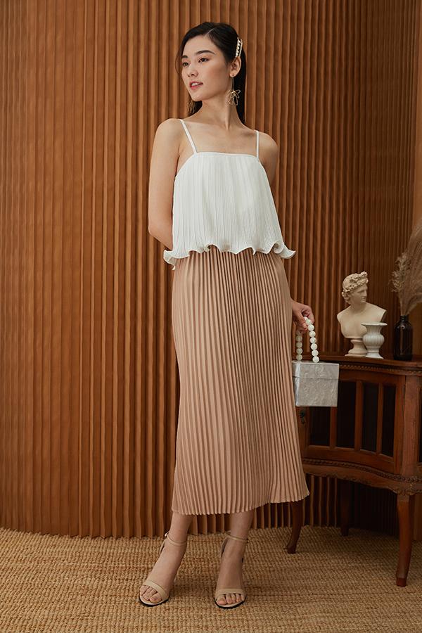 Camille Pleated Midi Skirt