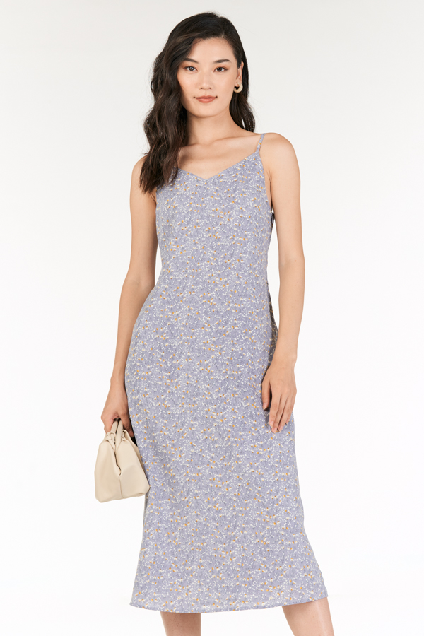 Rowella Slip On Midi Dress in Lilac