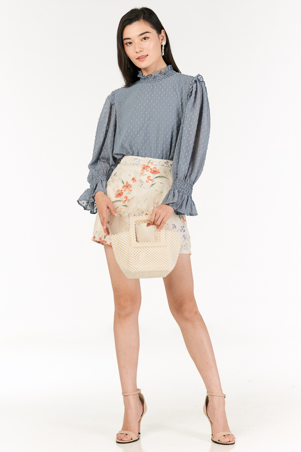 *Pre-Order* Leia Blouse in Dusty Blue