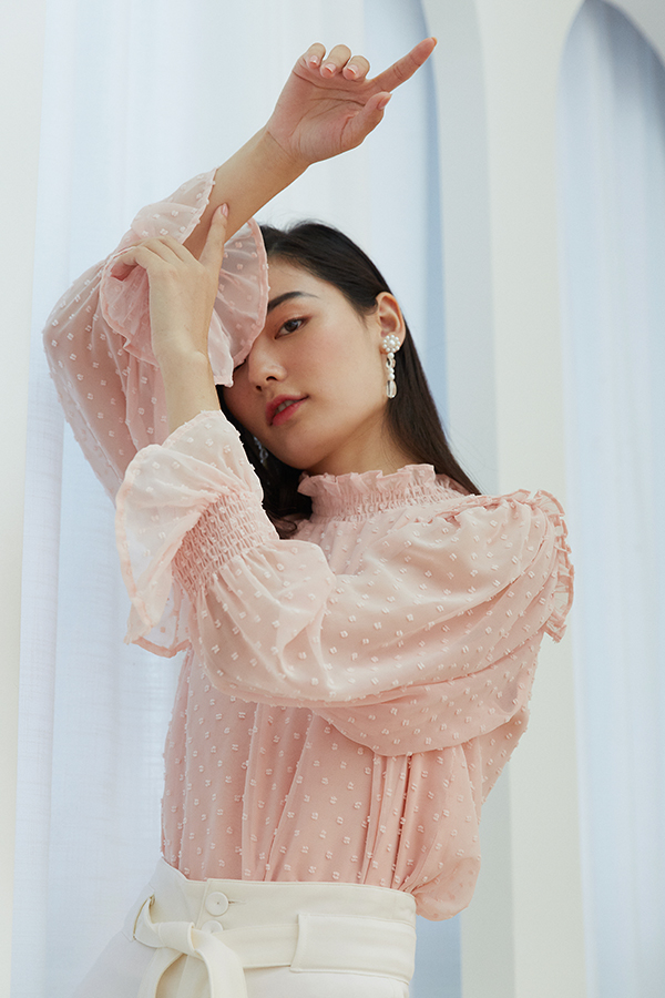 *Pre-Order* Leia Blouse in Light Pink