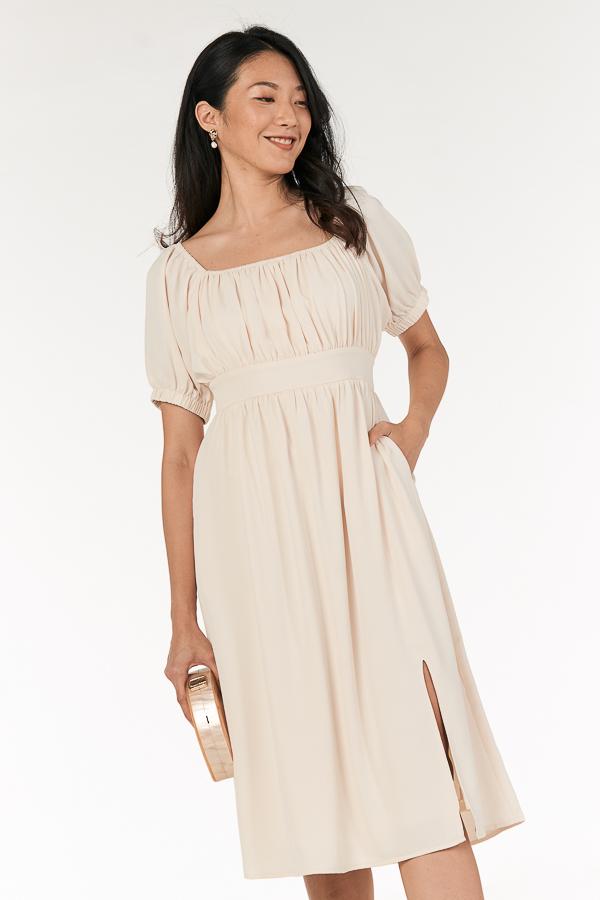 Jenn Midi Dress in Cream