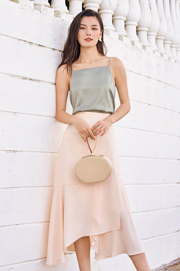 Erinna Midi Skirt in Cream