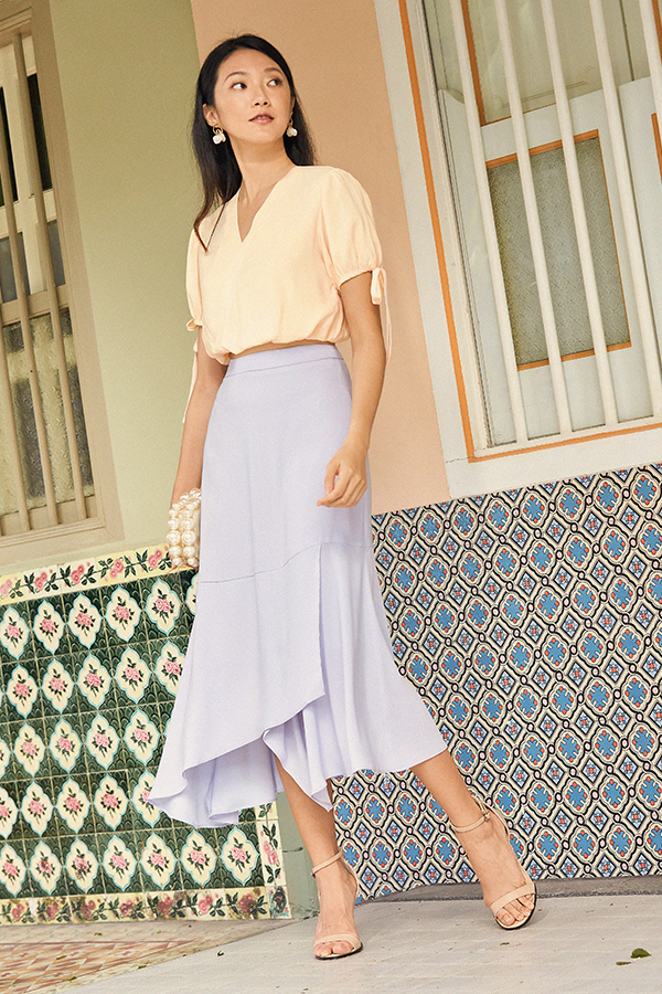 Erinna Midi Skirt in Lilac