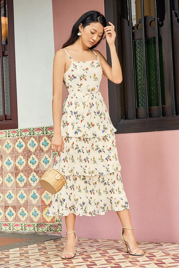 Tarra Pleated Maxi Dress