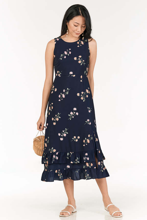 Ranosa Maxi Dress in Navy