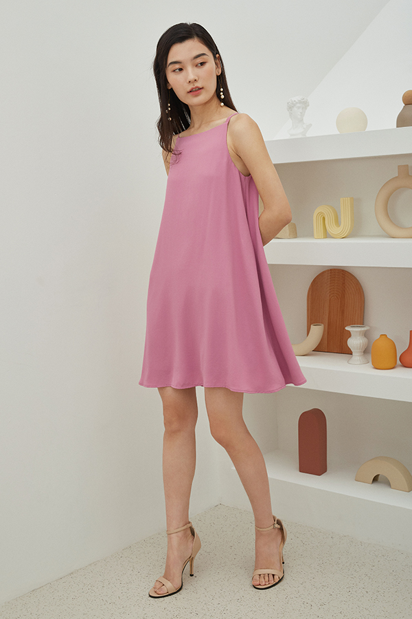 Calisa Swing Dress in Pink