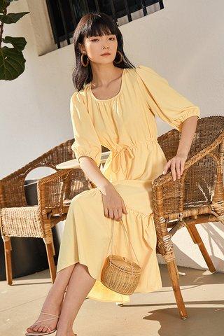 Drenna Midi Dress in Sunshine